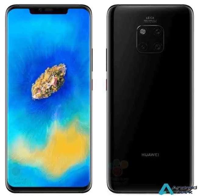 Primeiras imagens em fuga de informação do Huawei Mate 20 Pro 1