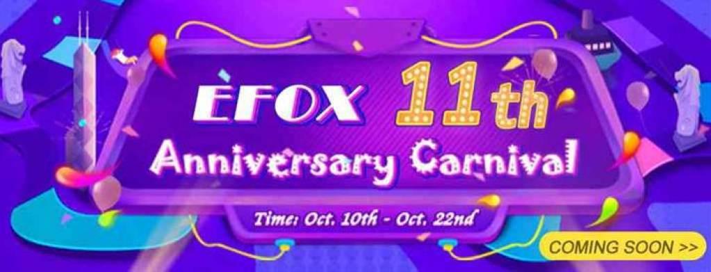 eFox celebra o 11º aniversário, e as prendas são para os clientes 2
