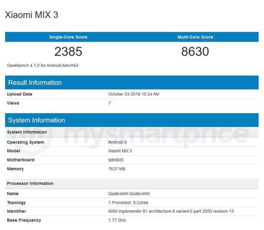 Xiaomi Mi Mix 3 edição especial 'Cidade Proibida' com 10GB RAM + 256GB de armazenamento 1