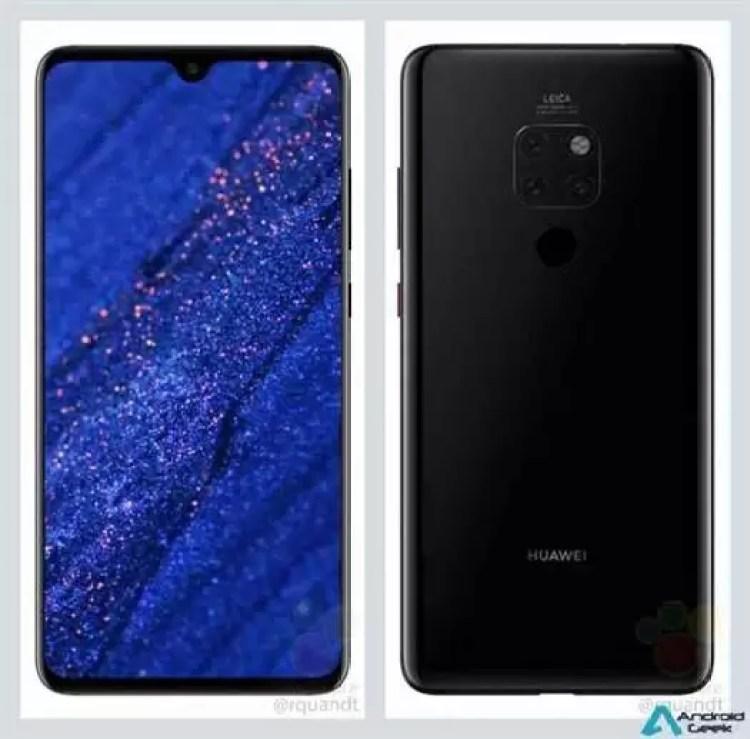 Huawei Mate 20 em nova fuga de informação revela tudo! 1