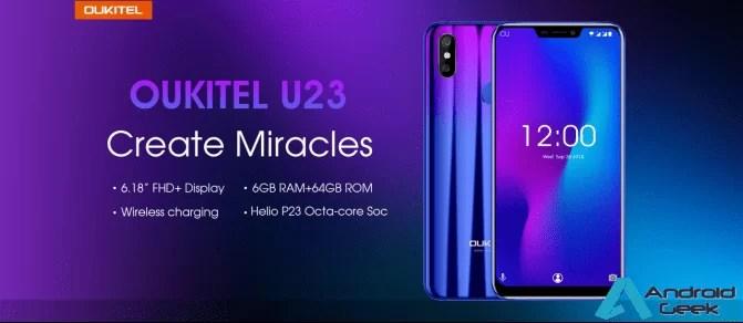 Flagship OUKITEL U23 revelado: Gradient Color Design com SoC Helio P23 1