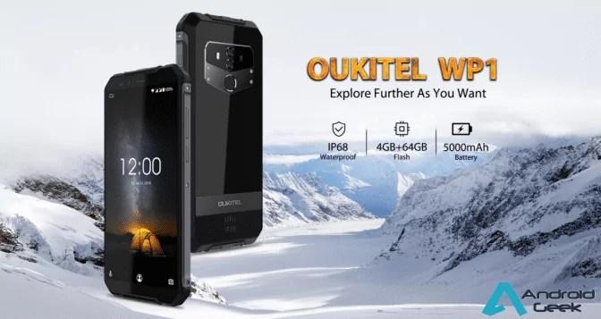 Oukitel revela o novo Oukitel WP1 um equipamento resistente e carregamento sem fio 1