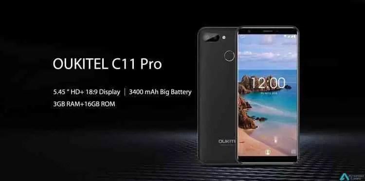 Novo telefone OUKITEL C11 Pro aparece com ecrã de 5,45 polegadas e 3 GB de RAM 1