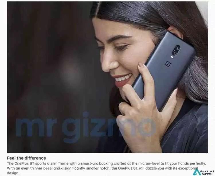 Especificações completas do OnePlus 6T com imagens promocionais foram reveladas! 4