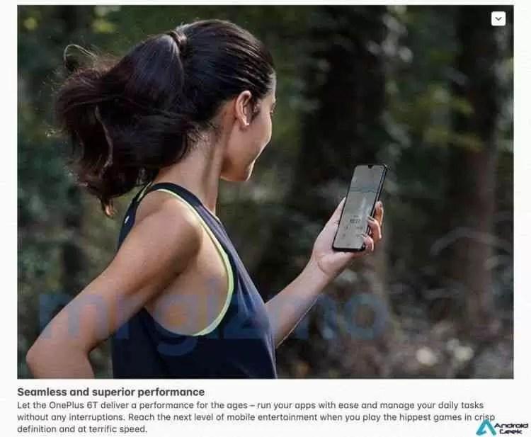Especificações completas do OnePlus 6T com imagens promocionais foram reveladas! 3