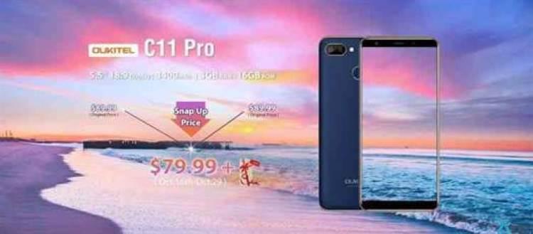 OUKITEL C11 Pro Pré-venda por $79.99, 3GB RAM e bateria de 3400mAh 1