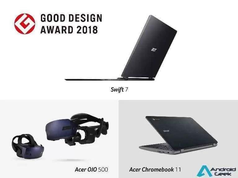 Produtos Acer Distinguidos com Good Design Awards 2018 1
