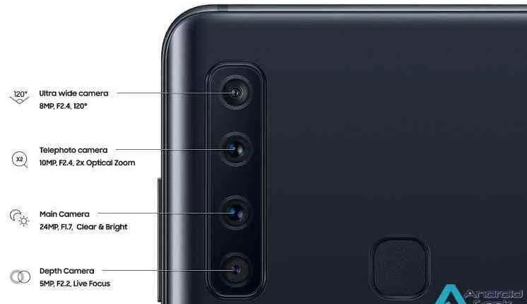 Samsung lança Galaxy A9 com quatro câmaras traseiras e até 8GB de RAM 8