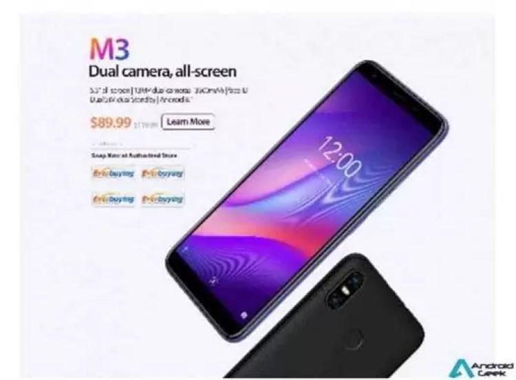 """Vernee M3 em pré venda oficial a um preço surpreendente, câmera dupla 13MP, 5.5"""" e Android 8.1 4"""