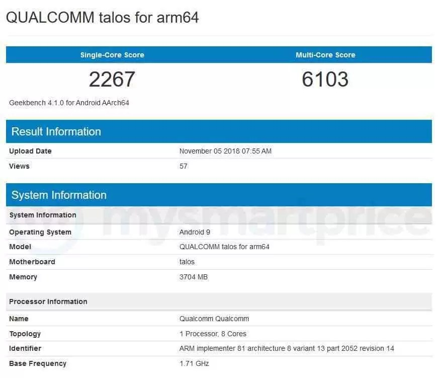 Qualcomm Snapdragon 675 revela pontuação no Geekbench 1