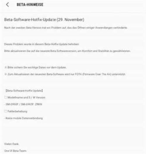 Samsung lança atualização hotfix Android Pie beta para Galaxy S9 1