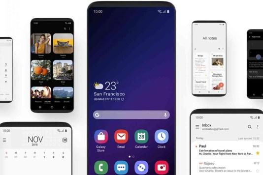 Samsung Beta One UI para o Galaxy S9 / S9 + começa na próxima semana 1