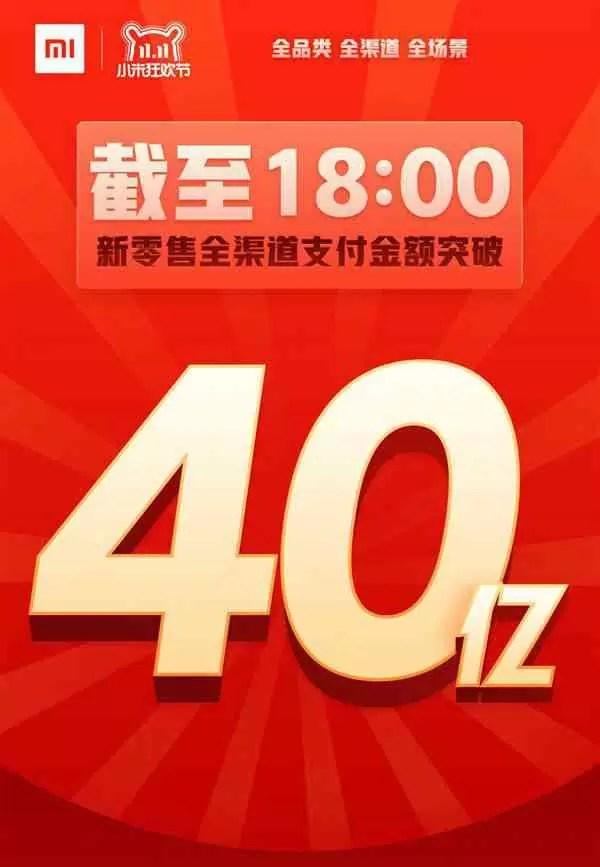 Xiaomi com vendas no valor de US $ 575 milhões (4 biliões de yuans) no festival de 11,11 1