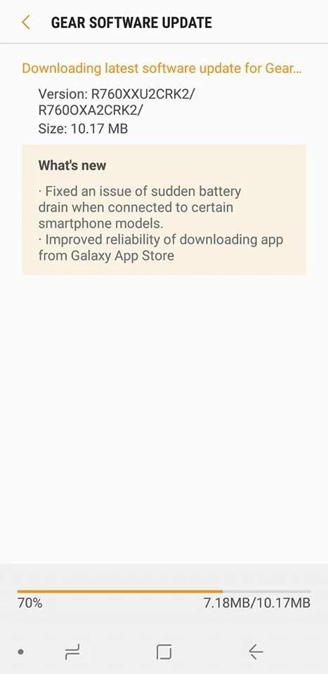 A atualização do novo Gear S3 deve corrigir o problema repentino de drenagem de bateria