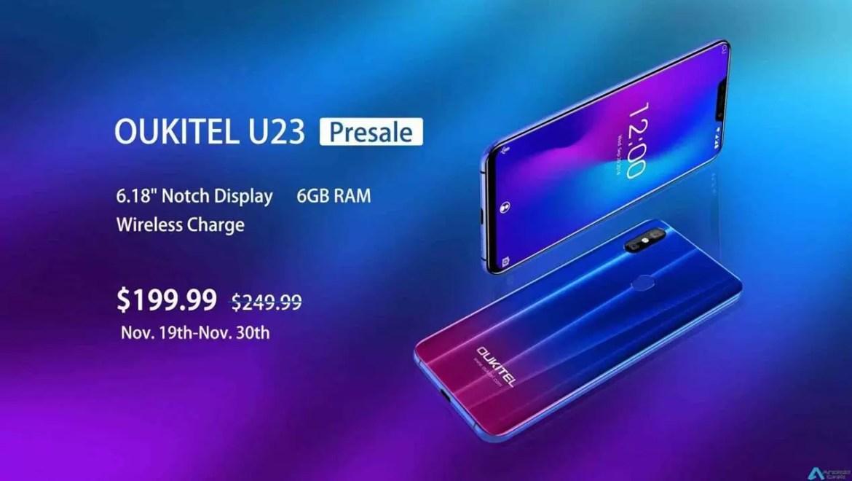 Flagship OUKITEL U23 com carregamento sem fios e 6GB de RAM está a US $ 199,99 em pré-venda 1