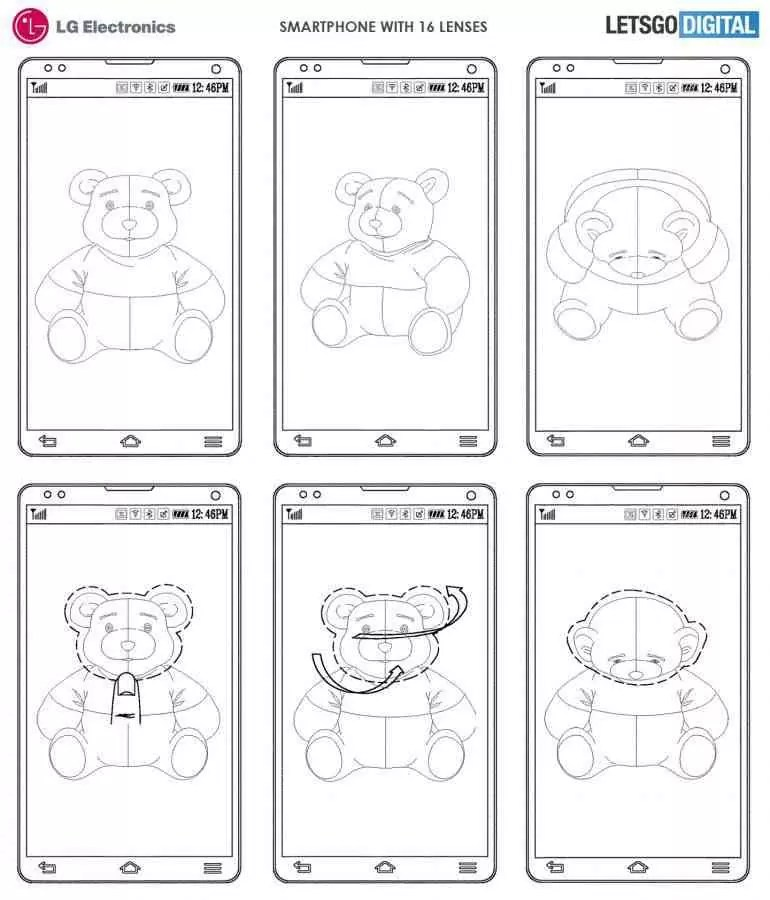 LG regista smartphone com 16 lentes de câmera 2
