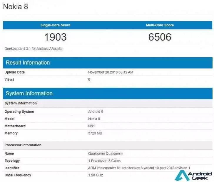 Actualização para Android 9.0 Pie no Nokia 8 deverá começar em breve 1