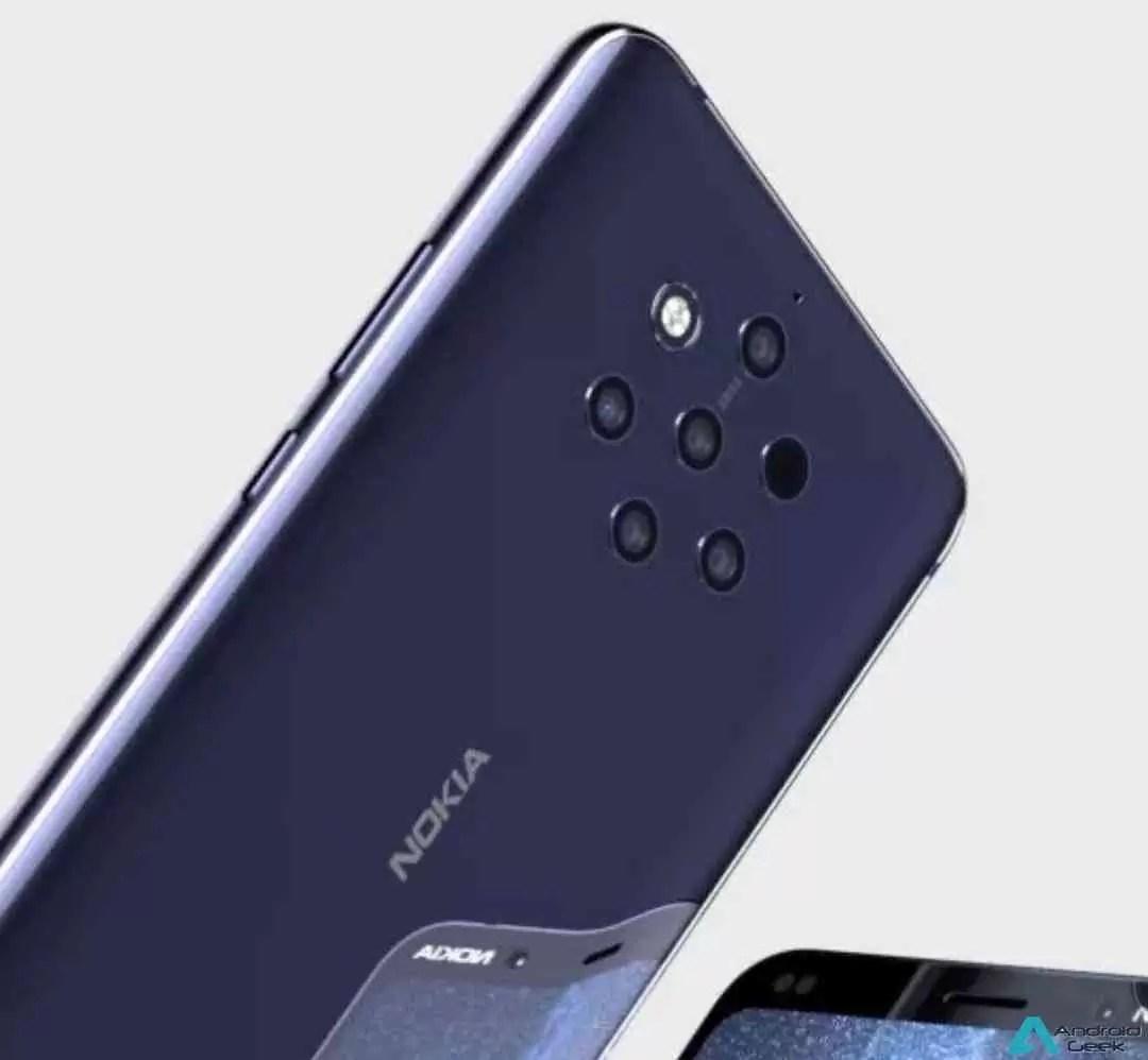 Render de capa Nokia 9 PureView confirma configuração da câmera penta 4