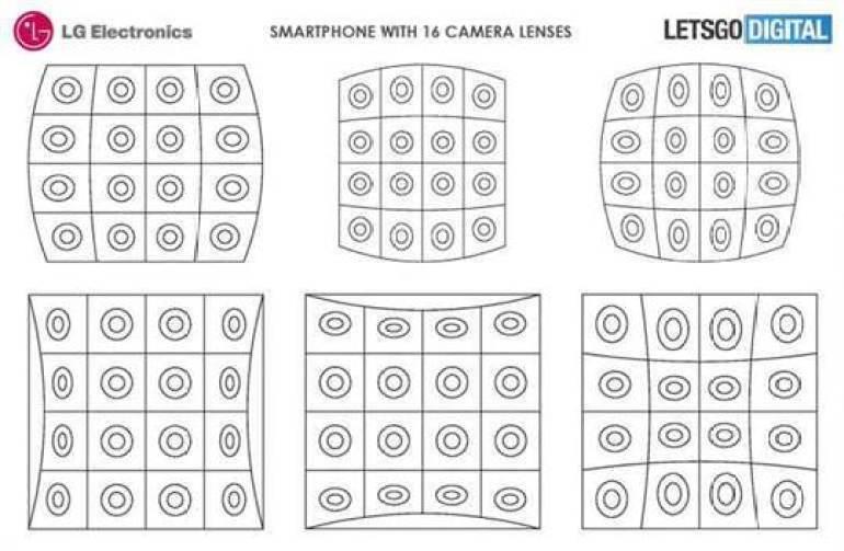 LG regista smartphone com 16 lentes de câmera 1