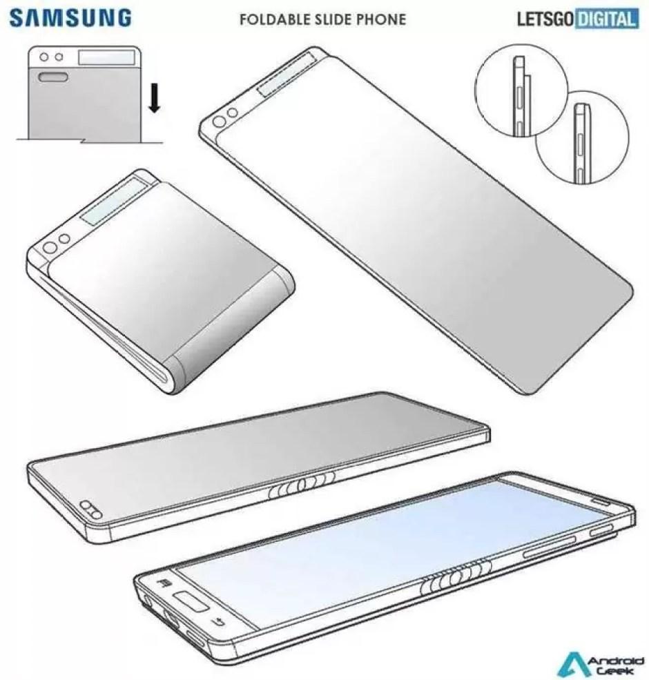 Um telefone deslizante que também se dobra? É isso que a mais recente patente da Samsung deixa adivinhar 1