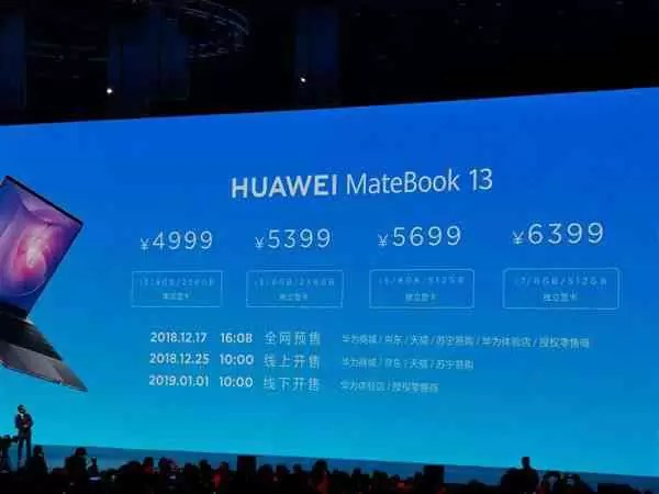Huawei Matebook 13 é um poderoso Notebook com ecrã sem margens que é agora oficial 2