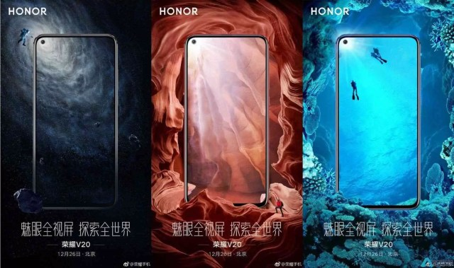 Honor V20 posters revelam que vai ter uma bateria enorme e uma câmera selfie impressionante 1
