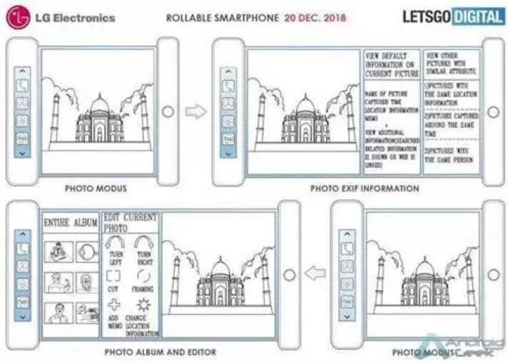 LG patenteia um novo estilo de smartphone dobrável 5