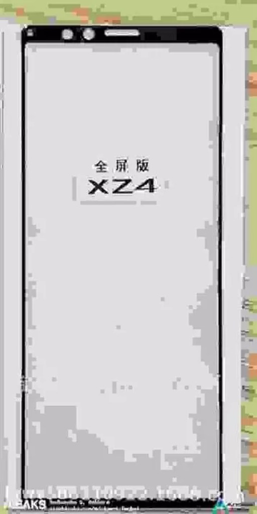 Sony Xperia XZ4 protetor de ecrã foi revelado 1