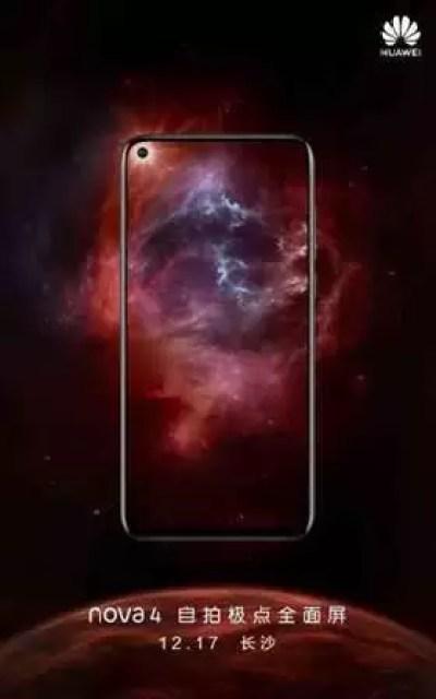 Teaser Huawei nova 4