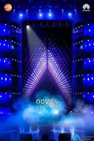 Novos teasers do Huawei Nova 4, revelam design antes do seu lançamento 3
