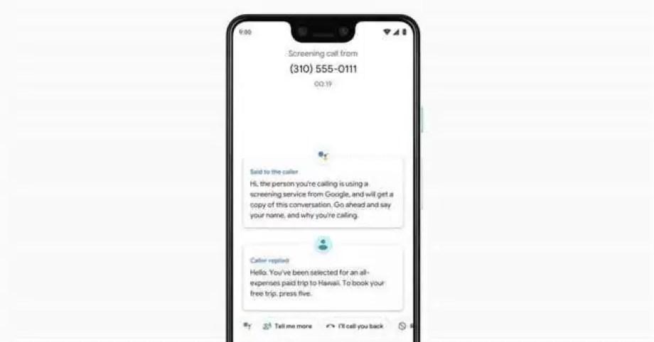 Google triagem das chamadas
