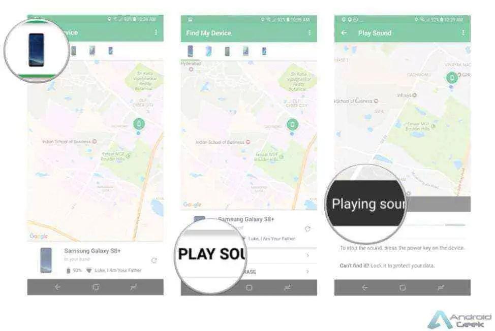 Como configurar e usar a aplicação Find My Device 3