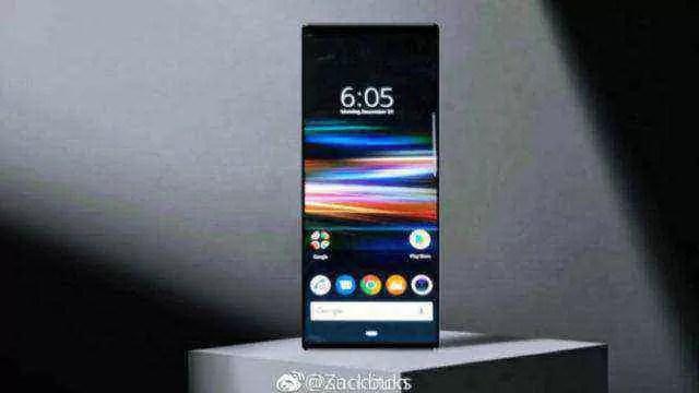 Imagem do Sony Xperia XZ4 mostra incrível proporção de 21: 9 1