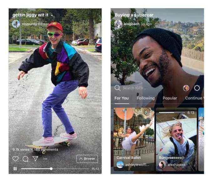 Instagram agora mostrará vídeos IGTV na sua TimeLine 2