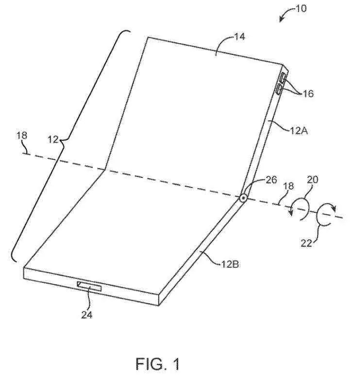 Patente do ecrã dobrável da Apple apresenta vários projetos interessantes 1