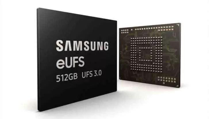 Samsung inicia a produção em massa do primeiro chip eUFS 3.0 de 512 GB 1