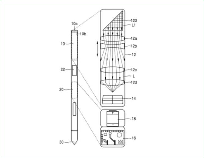 Samsung patenteia uma possível câmera na S Pen 1