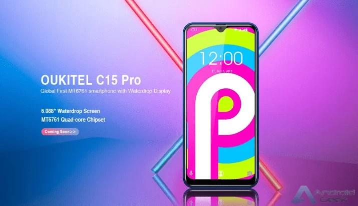 OUKITEL C15 Pro leaks: Primeiro Smartphone com MT6761 e entalhe gota de água 1