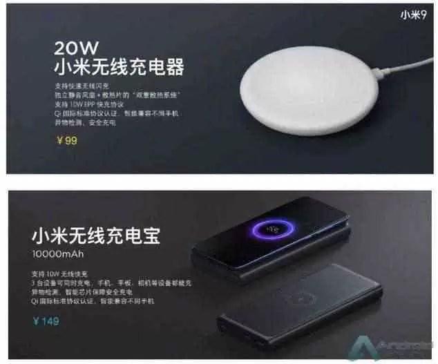 Carregador sem fios, PowerBank sem fios, carregador de carro sem fios apresentados pela Xiaomi 1