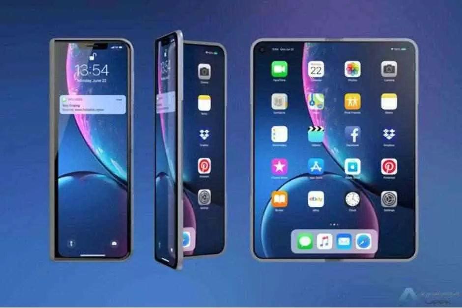 Conceito de iPhone dobrável inspirado no Galaxy Fold revela um dispositivo impressionante 1