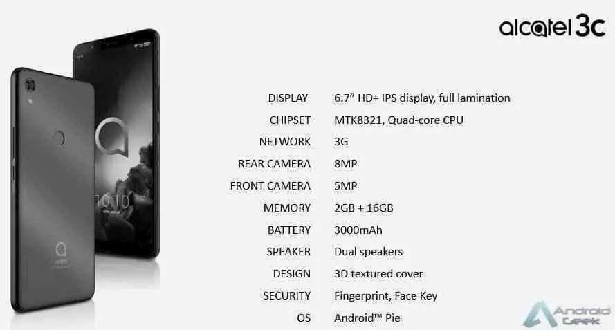 Linha de smartphones Alcatel 2019 revelada pelo suspeito do costume 9