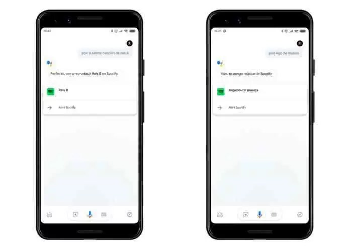 Google Assistant de musica
