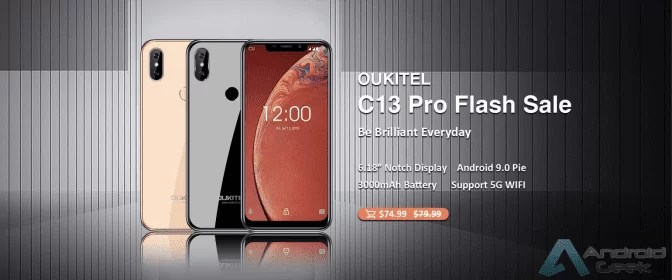OUKITEL C13 Pro ao estilo iPhone XS entra em venda Flash por $ 74,99 1
