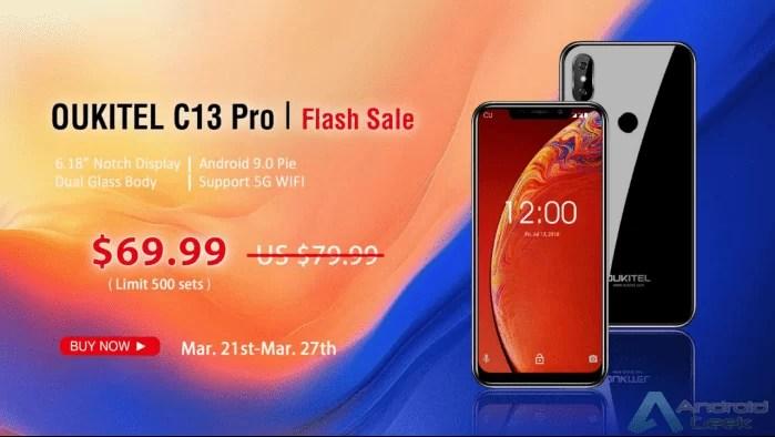 """OUKITEL C13 Pro com 6,18 """"Notch Display entra em venda Flash na Banggood por apenas $ 69,99 1"""