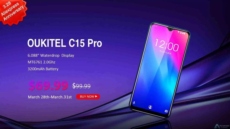 OUKITEL surpreende com grandes ofertas para o 7º aniversário da Aliexpress, smartphones desde US $ 57,99 2