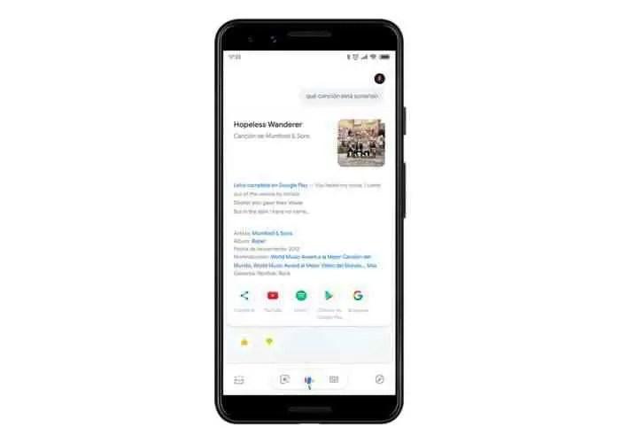reconhecer Google Assistant de musica