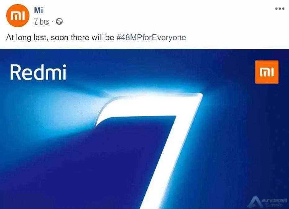Redmi 7 com câmara de 48MP para sai em Espanha a 6 de março 2