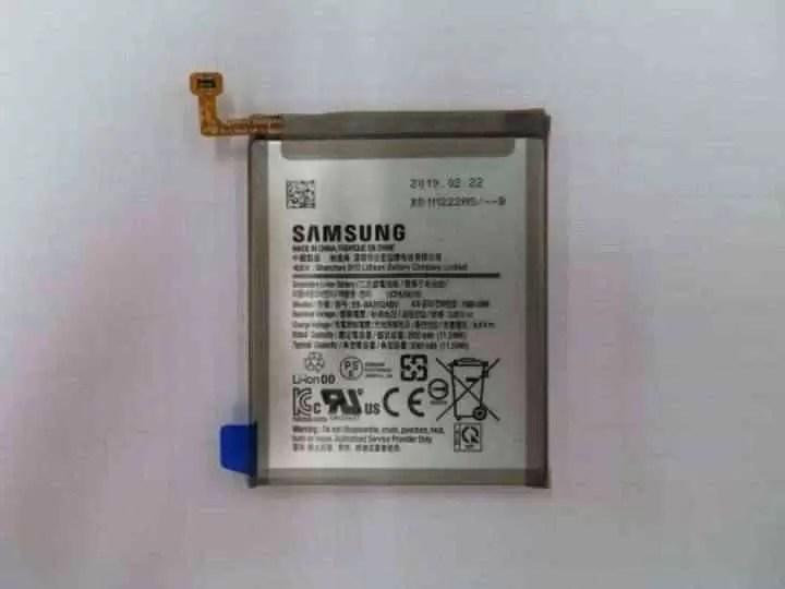 samsung galaxy a20 bateria