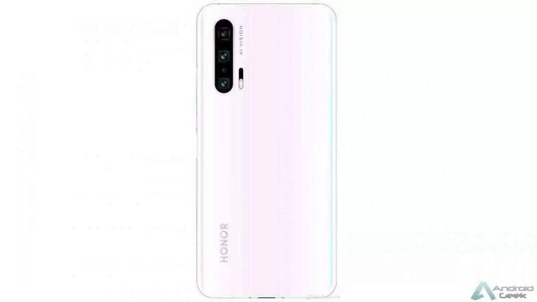 Honor 20 Pro de cor rosa gradiente confirma configuração de câmara quádrupla 1