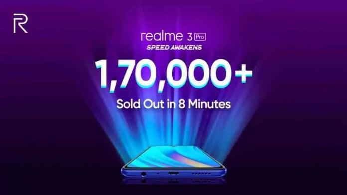 A primeira venda flash do Realme 3 Pro revela 170.000 unidades vendidas em apenas 8 minutos 1